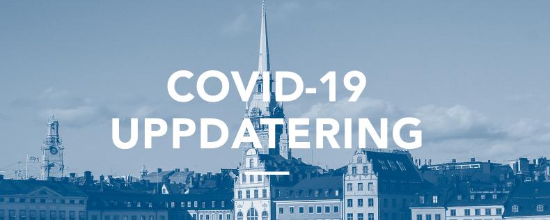 Covid-19 uppdatering